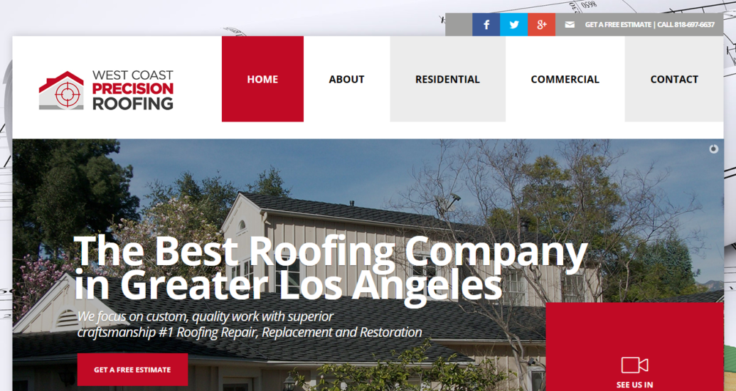 Check out the NEW West Coast Precision Roofing Website